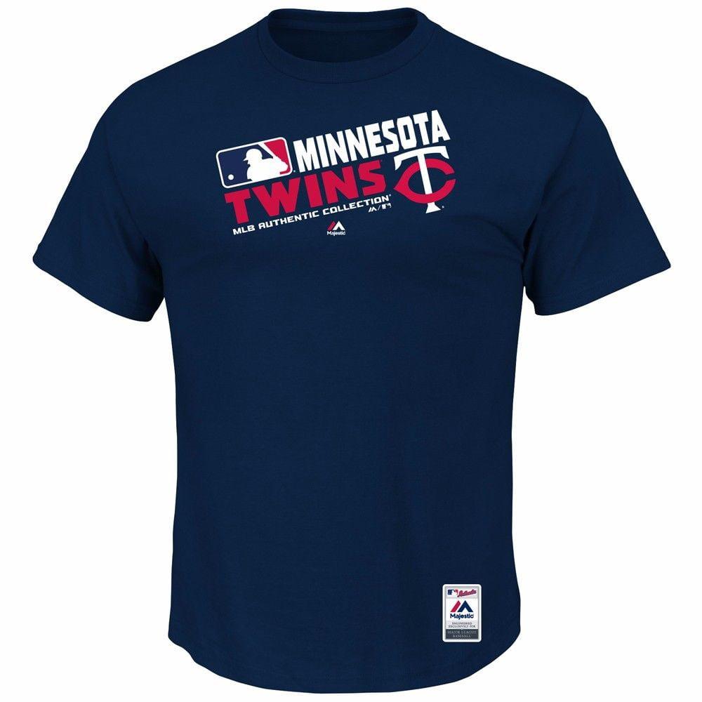 Minnesota Twins MLB Majestic Men's Navy Authentic On-Field Graphic T-Shirt