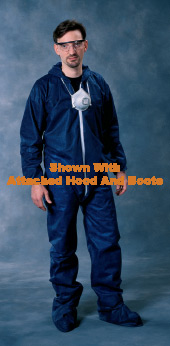 Radnor Large Blue Spunbond Polypropylene Disposable Coveralls With Front Zipper Closure by Radnor
