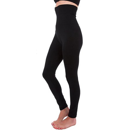 Women High Waist Fleece Lined Tummy Control Full Length Legging Winter Compression Top Pants (Woman White Linen Pants)