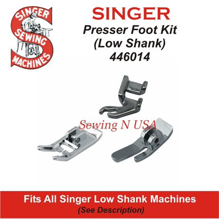 SINGER Presser Foot Set 446014 Fits All Singer Low Shank Machines In Description Singer Low Shank