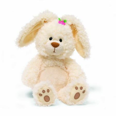 GUND Little Magnolia Easter Bunny 13 Inch Plush Rabbit Pink Flower Paw Pads Toy (Track The Easter Bunny)