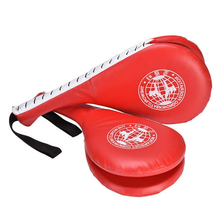 Lv. life 1 PC Double Clapper Target Focus Kick Striking Pad Karate Taekwondo Kickboxing(Red),A (Kick Pads)