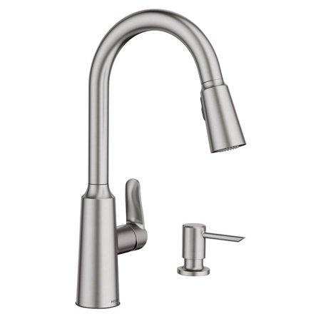 Moen Edwyn Collection Pull-Down Kitchen Faucet With Soap or Lotion Dispenser Moen Yorkshire Collection
