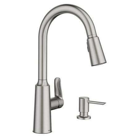 Moen Edwyn Collection Pull-Down Kitchen Faucet With Soap or Lotion Dispenser