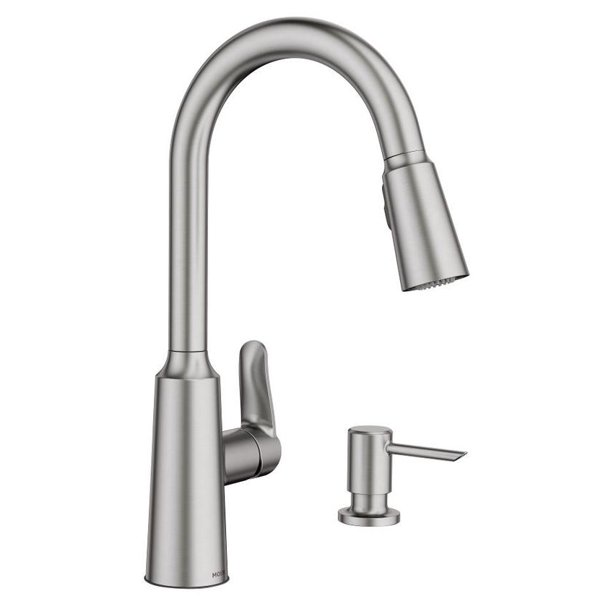 Moen Edwyn Collection Pull Down Kitchen Faucet With Soap Or Lotion Dispenser Walmart Com Walmart Com