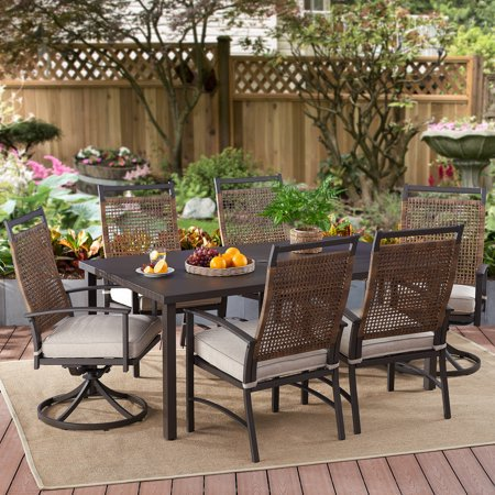 - Better Homes & Gardens Heritage Farm 7-Piece Outdoor Patio Dining Set for 6