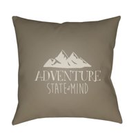 """Surya ADV3-2020 Adventure 20"""" Wide Square Novelty Landscape Polyester Covered Polyester"""