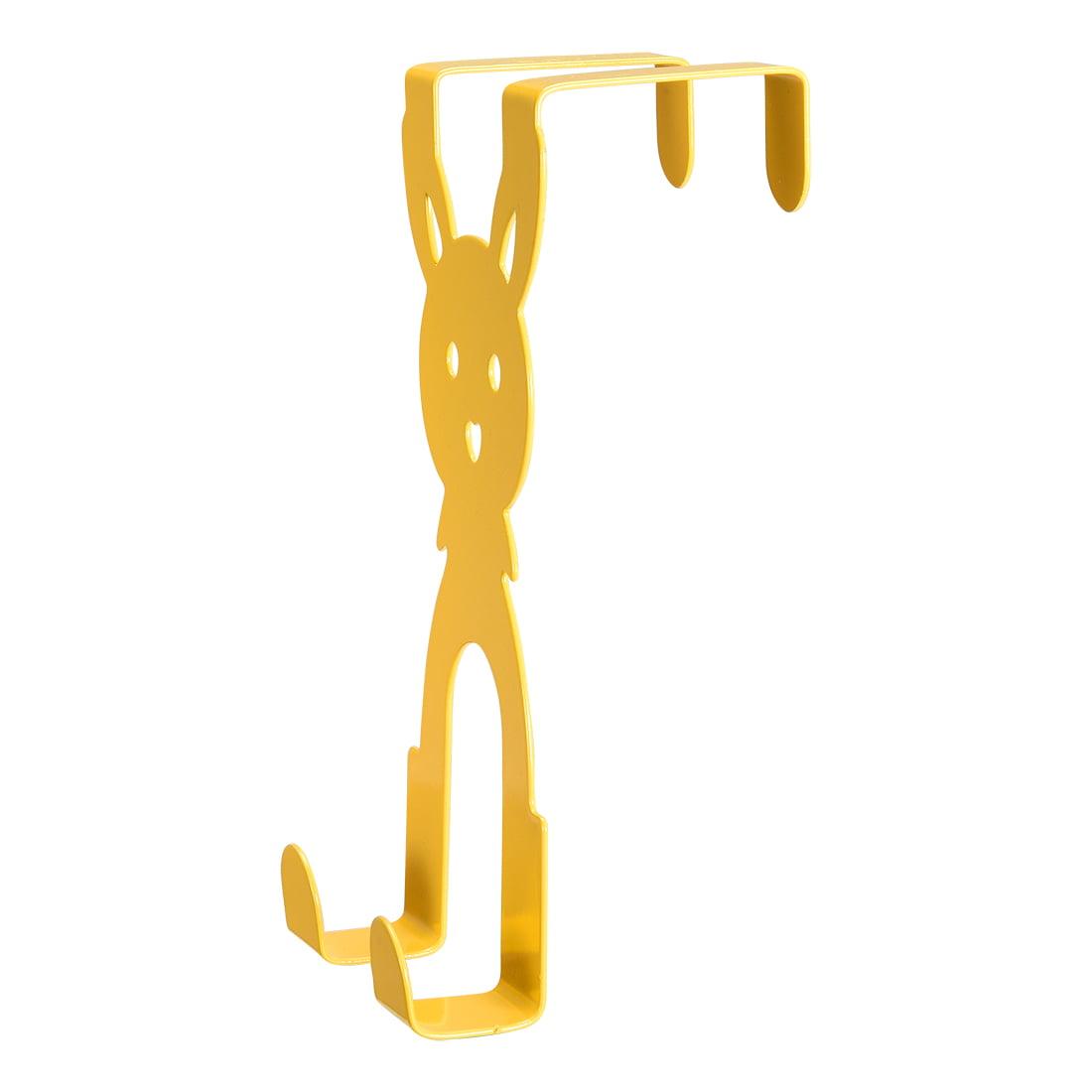 Sturdy Over the Door Hooks Reversible Over-Door Cabinet Drawer Hanger 147mm x 71mm Yellow 6pcs - image 2 of 3