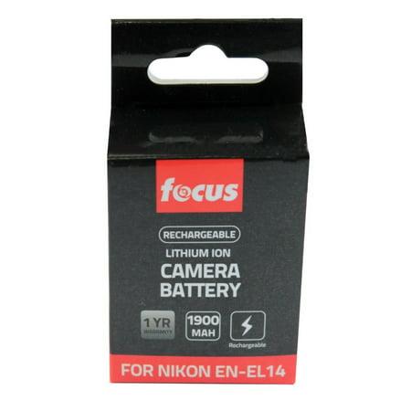 Focus Camera EN-EL14 Rechargeable Lithium-Ion Replacement Battery Pack