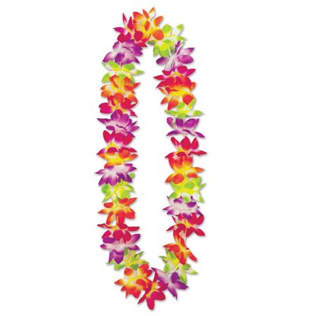 Beistle 66285 36 in. Maui Floral Lei, Multicolor - Pack of 12 - Cheap Leis In Bulk