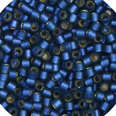 Delica 11/0 RD Dusk Blue Semi-Matte Dyed - image 1 of 1