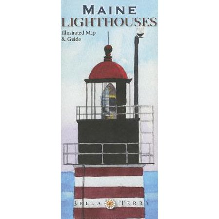 Maine Lighthouses Illustrated Map Guide Walmart Com