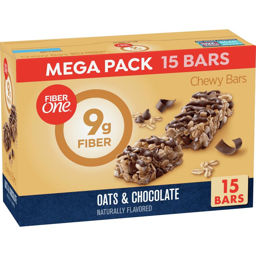 Fiber One Chewy Bar Oats And Chocolate Fiber Bars Mega Pack 15 Ct 21 2 Oz Walmart Com Walmart Com