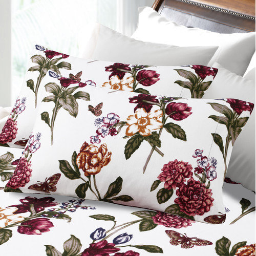 Blossoms Printed Deep Pocket Flannel Sheet Set