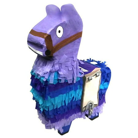 Surprise Llama Pinata, Purple & Blue, 13in x 20in - Halloween Pinatas For Parties