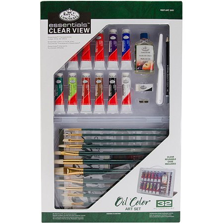 Clearview large oil painting art set for Walmart arts and crafts paint