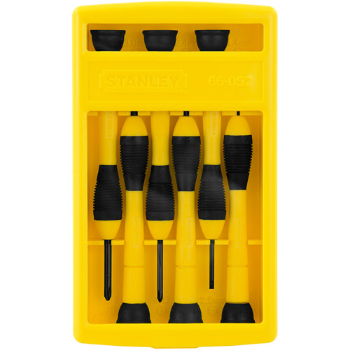 Stanley Hand Tools 66-052 6-Piece Precision Screwdriver Set