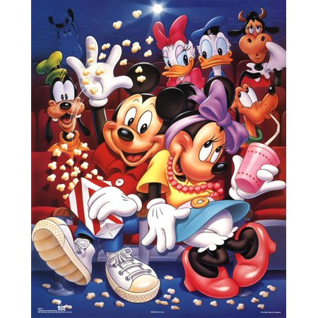 Mickey Mouse and Friends At the Movies Poster - 16x20 - Mickey Mouse Poster
