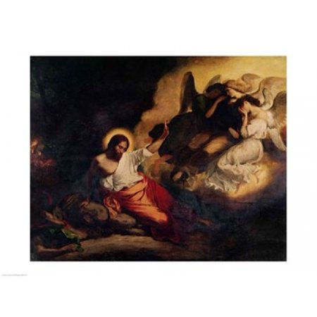 Christ In The Garden Of Olives 1827 Poster Print By Eugene Delacroix  24 X 18