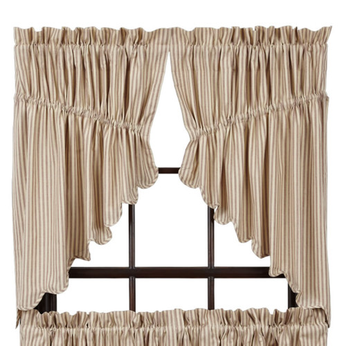 August Grove Marie Prairie Swag Scalloped Lined 36'' Curtain Valance (Set of 2)