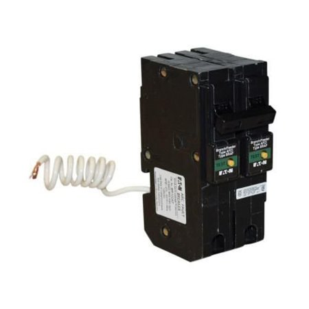 Eaton BRL215CAF Plug-In Mount Type BR Combination Arc Fault Circuit Breaker 2-Pole 15 Amp 120/240 Volt AC Fire-Guard (Type Q Circuit Breaker)