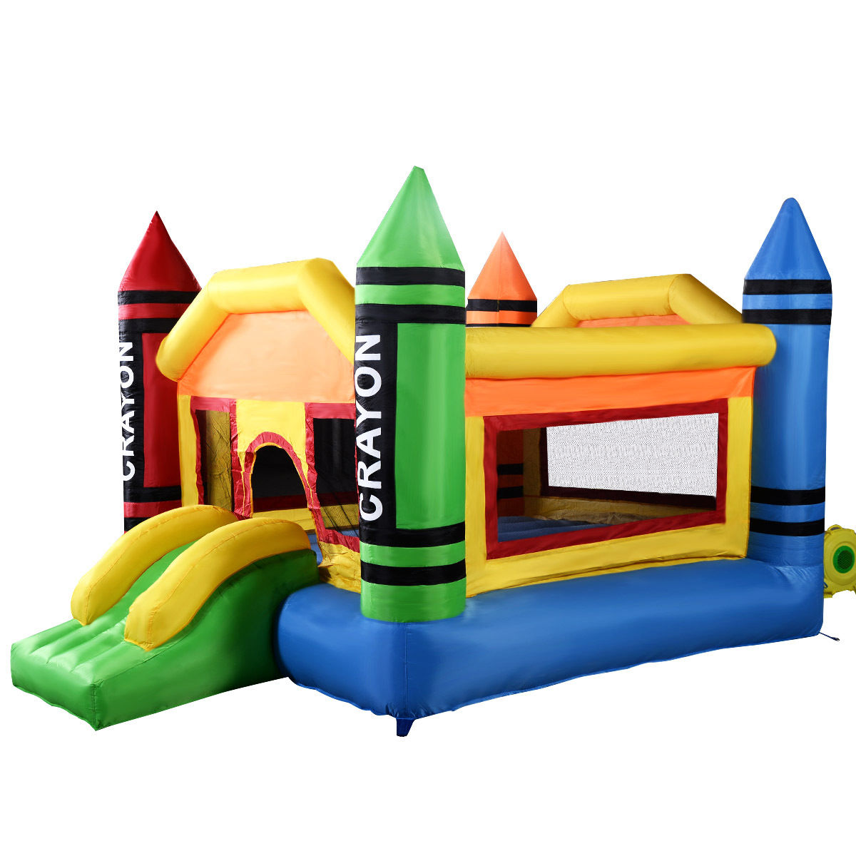 Gymax Inflatable Bounce House Jumper Moonwalk Bouncer Without Blower