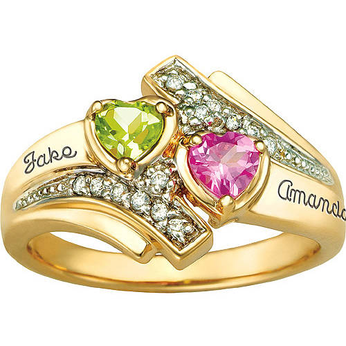 Keepsake Personalized Serenade Promise Ring with Birthstones