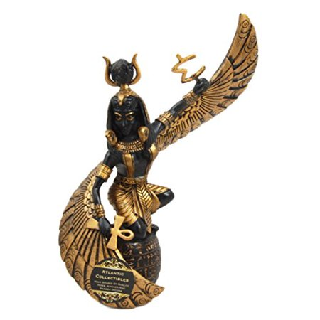 Atlantic Collectibles Egyptian Goddess Mother Isis Ra Holding Ankh Decorative Figurine 9