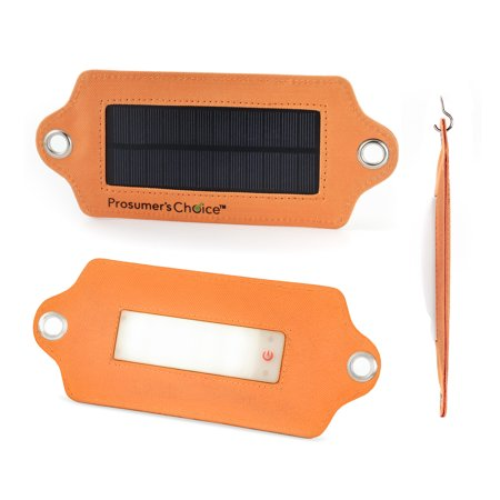 Prosumer's Choice Emergency Car Kit Solar Powered LED Flashlight - Orange