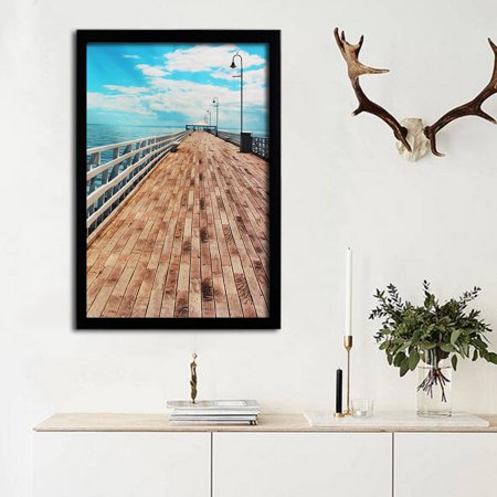 3 Size Unframed Silk Cloth Poster Bridge Psychedelic Visual Landscape Room Abstract Fantasy Wall Art Home Christmas Decor - image 1 of 4