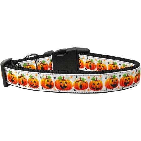 Pumpkin Parade Nylon Dog Collar Medium Narrow