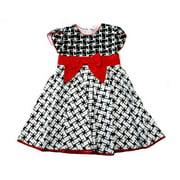 Black White Red Bow Sleeveless Cotton Dress Infant Girl S
