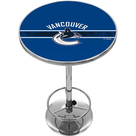 NHL Chrome Pub Table, Vancouver Canucks by
