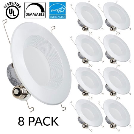 Sunco lighting 8 pack 13w 56inch dimmable led retrofit recessed sunco lighting 8 pack 13w 56inch dimmable led retrofit recessed lighting fixture aloadofball Images