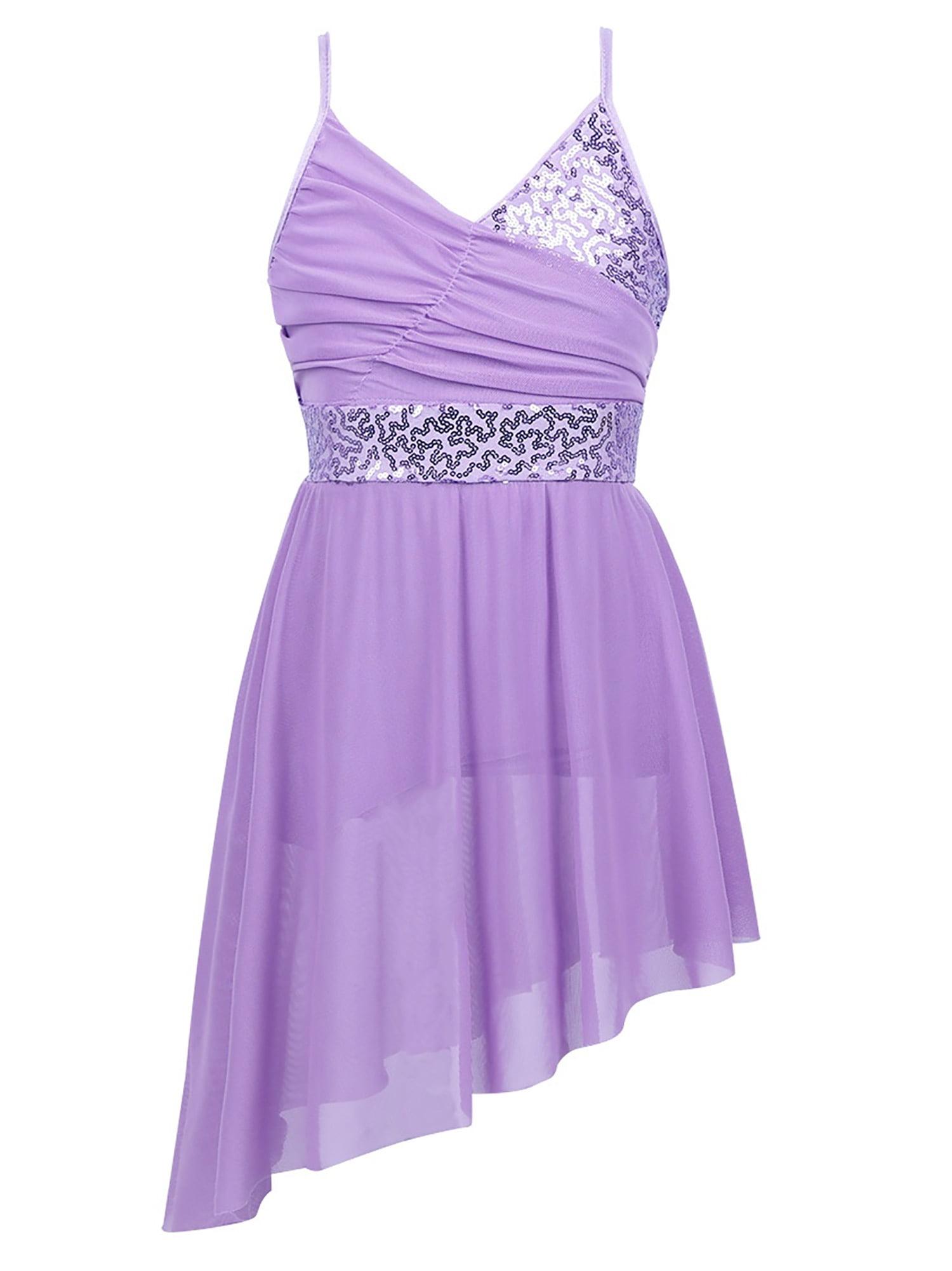 Details about  /US Girls Lyrical Sequin Ballet Leotard Dress Kids Modern Contemporary Dance Wear