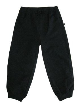 Little Me Little Boys Black Solid Color Adjustable Waist Sweat Pants 2T