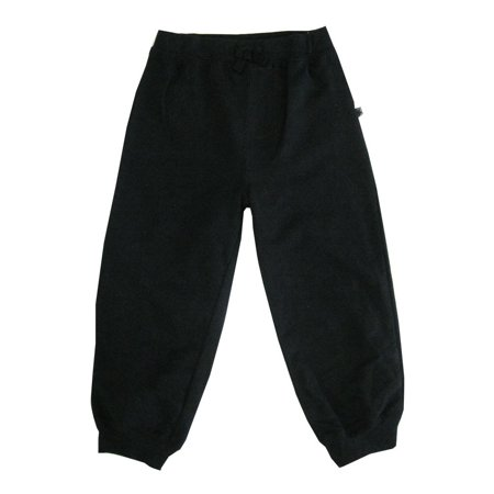 Little Me Little Boys Black Solid Color Adjustable Waist Sweat Pants 2T (Nautical Sweatpants)