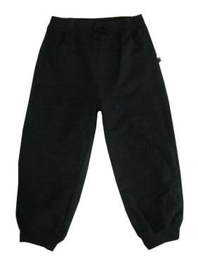 Little Me Little Boys Black Solid Color Adjustable Waist Sweat Pants 2T