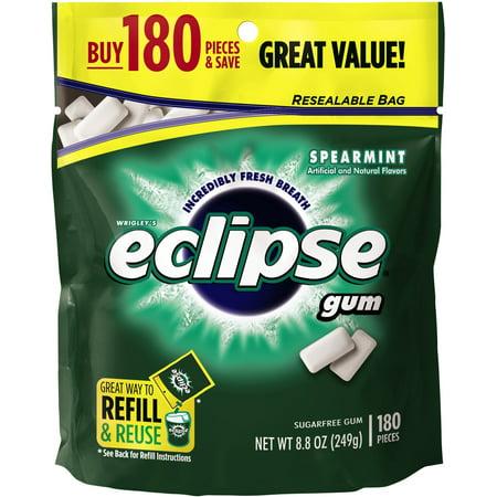 Wrigleys Eclipse Sugar Free Gum Pieces Spearmint   180 Ct