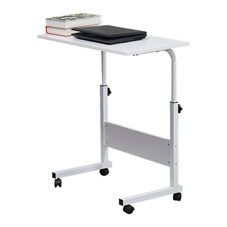Living Room Sofa Side Wood Steel Table Height Adjustable Writing Study Desk Bedroom Lady Laptop Table