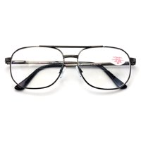 0f0677d3bda1 Product Image BiFocal Metal Aviator Reading Glasses - Spring Hinge Square  Large Lens Reader Bi-Focal