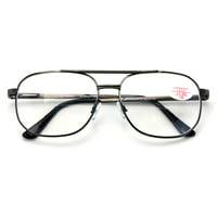 5564a01a2d46 Product Image BiFocal Metal Aviator Reading Glasses - Spring Hinge Square  Large Lens Reader Bi-Focal