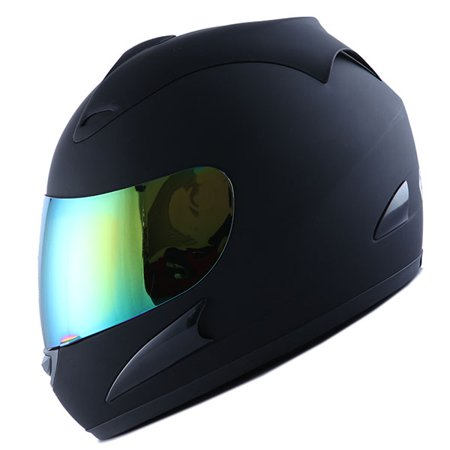 - Motorcycle Full Face Helmet Adult Matt Black