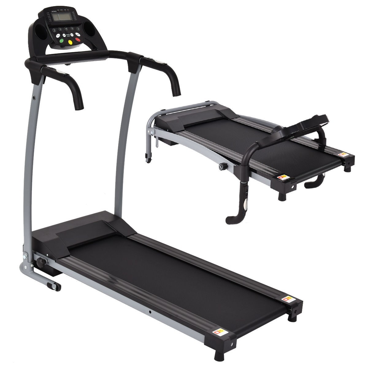 800W Folding Treadmill Electric Portable Motorized Power Running Fitness Machine