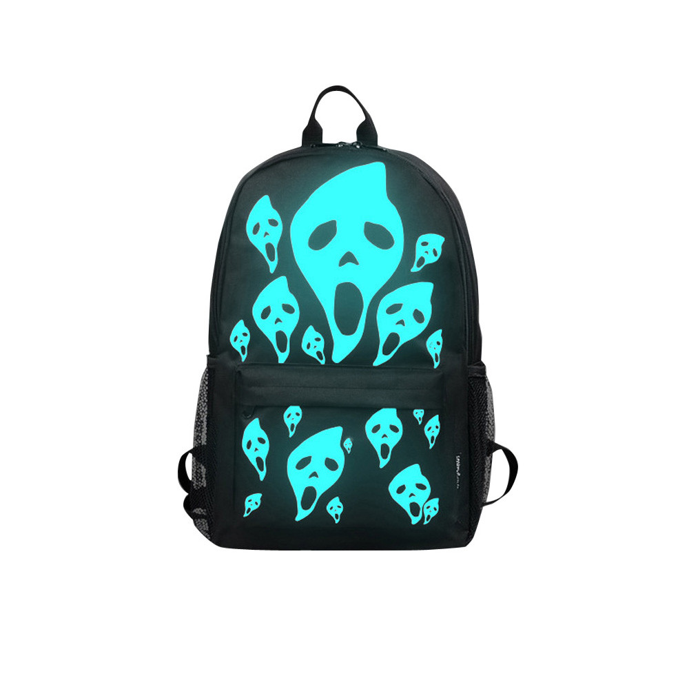 Unisex Light Preppy Teenagers Noctilucent Cartoon School Bags Student Backpack