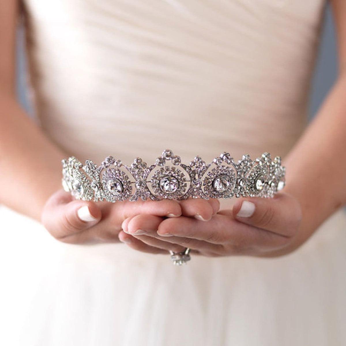 Prom Queen Quincea\u00f1era Pageant Sweet 16 Rhinestone Tiara Crown