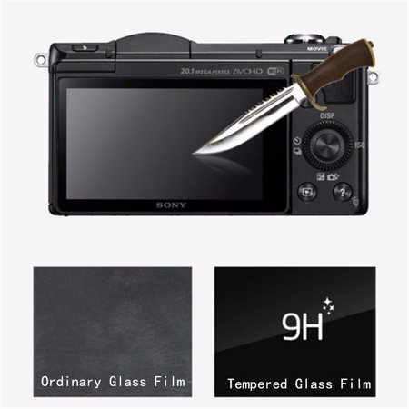 Tempered Glass LCD Screen Protector Film For Sony Alpha A6000 A5100 A5000 US