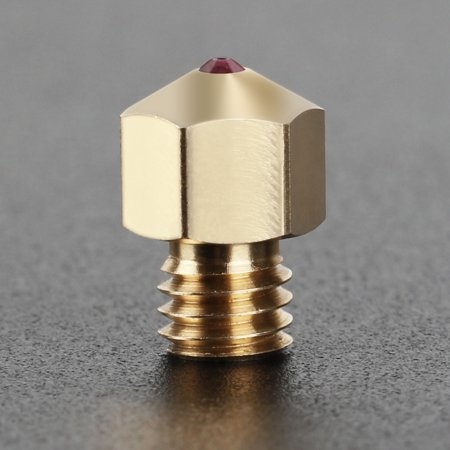 High Temperature MK8 Ruby Nozzle 0.4mm 3D Printer Parts for 1.75mm Filament PETG ABS PEI PEEK Compatible with Creality Ender 3 CR-10 Anet A8 - image 6 of 7