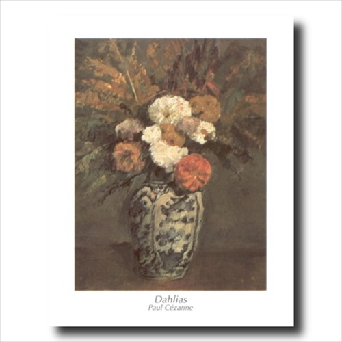 Dahlias Flowers Floral Wall Picture Art Print