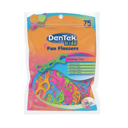 Dentek Kids Fun Flossers - 75 Ea, 6 Pack